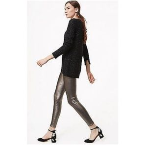 Ann Taylor Metallic Faux Leather Pants